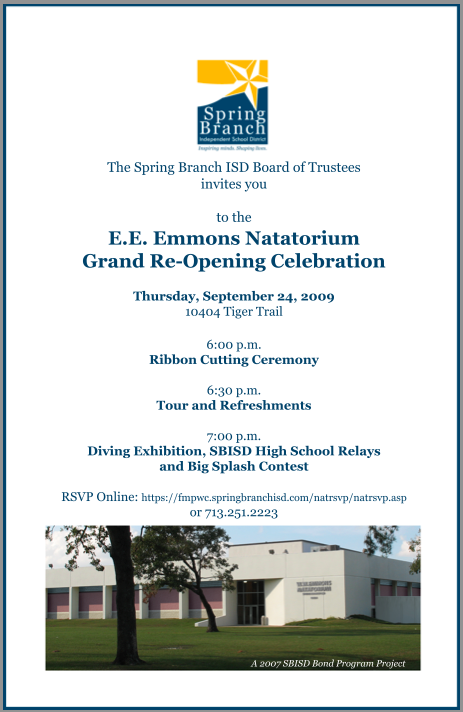 Mike Falicks Blog Invitation to Tonights Grand ReOpening